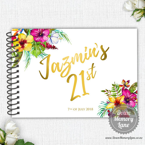 A4 Size - Birthday Bright Tropical on White