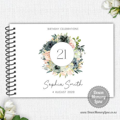 A4 Size - Birthday Blush & Black
