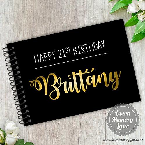 A5 Size - Birthday Golden Name