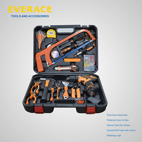 916003  52pcs 12V Lithium Drill Set