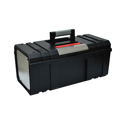 906018  Plastic Tool Box with side stainless steel