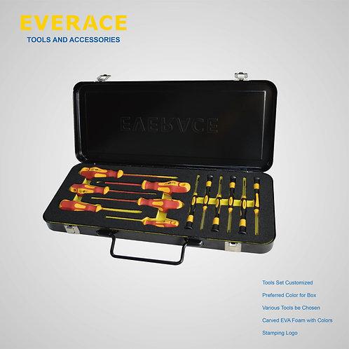 325103   12Pcs VDE Screwdrivers Set with Metal Box