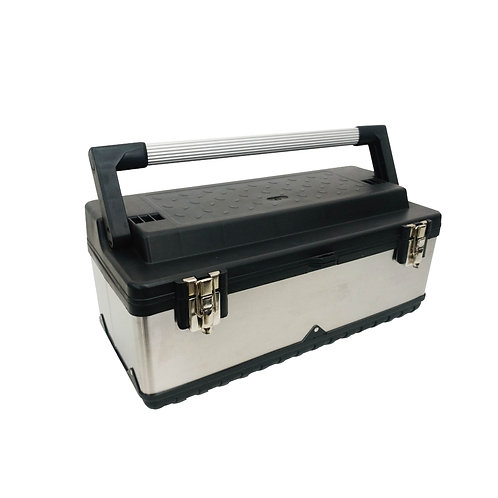 906019  Aluminum Handle Tool Box with Stainless Steel