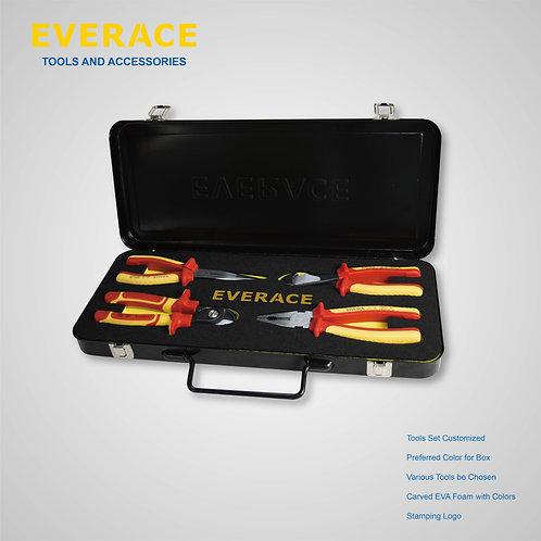 325100   4Pcs VDE Tools Set with Metal Box