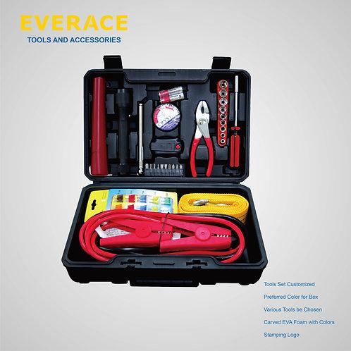 916016  40pc  Automotive Emergency Kit with Flasing Warning Light