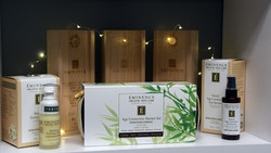 Eminence Organic Skin Care products on display