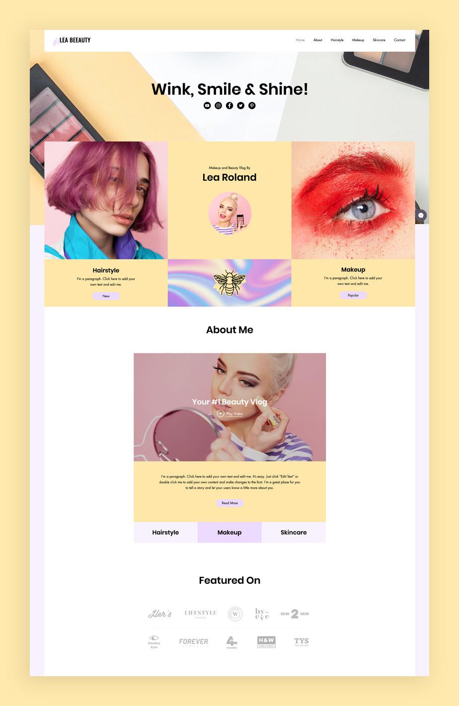 Best blog templates: Beauty blog template