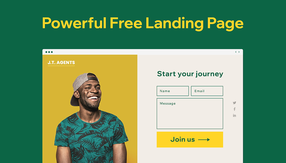 How to create a free landing page
