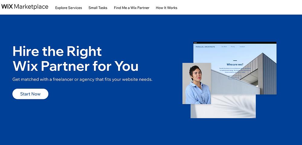 Hiring a designer: Wix Marketplace