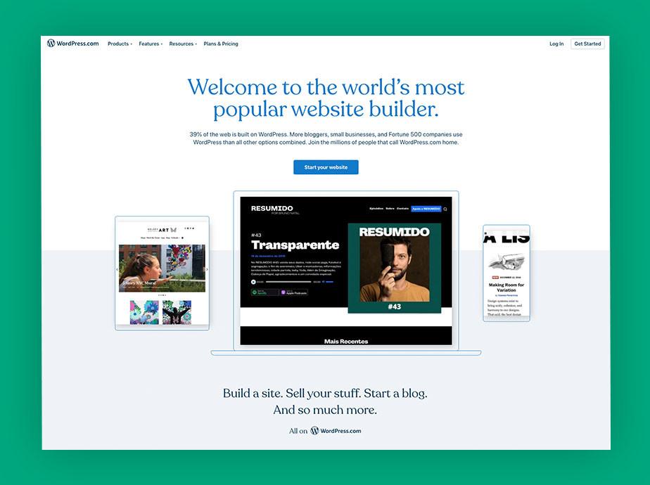 Best website builder WordPress.com