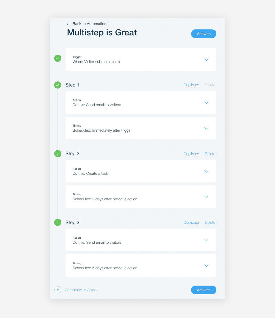 Drip campaign platform: Multistep Automations