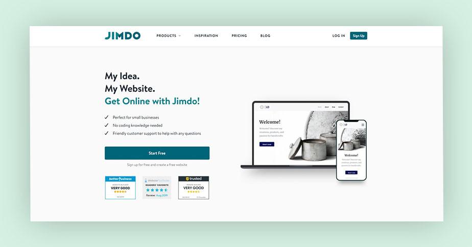 Best website builder Jimdo
