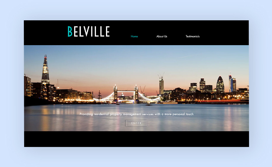 Real estate agent websites: Belville