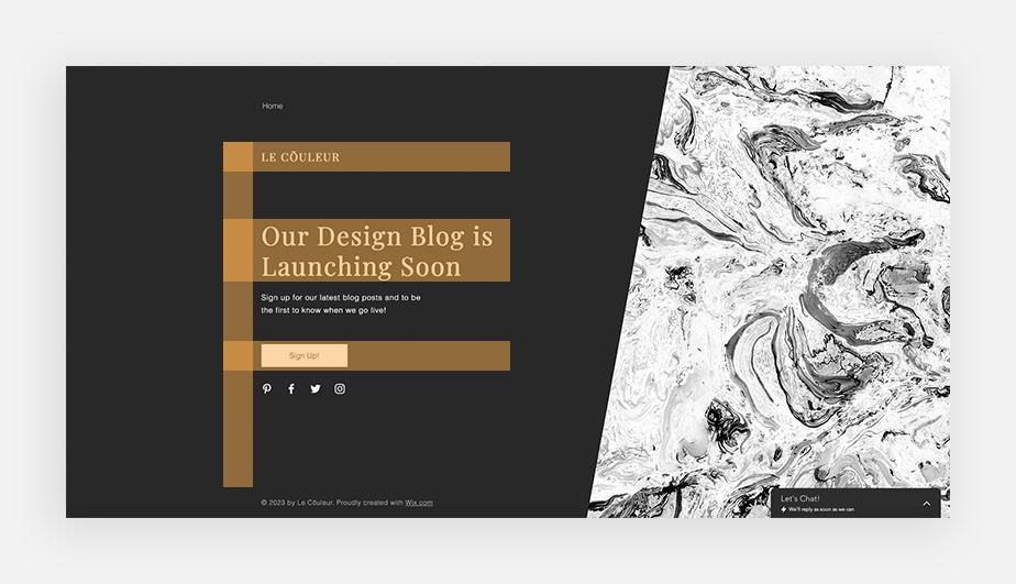 landing page design: f pattern