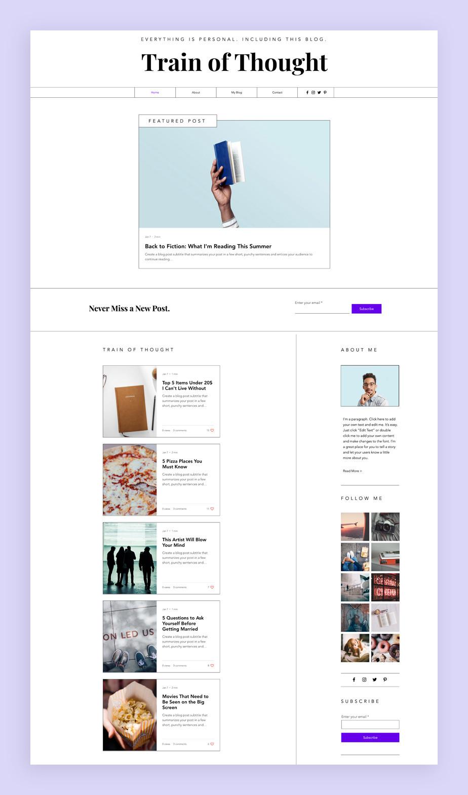Best blog templates: Personal blog template