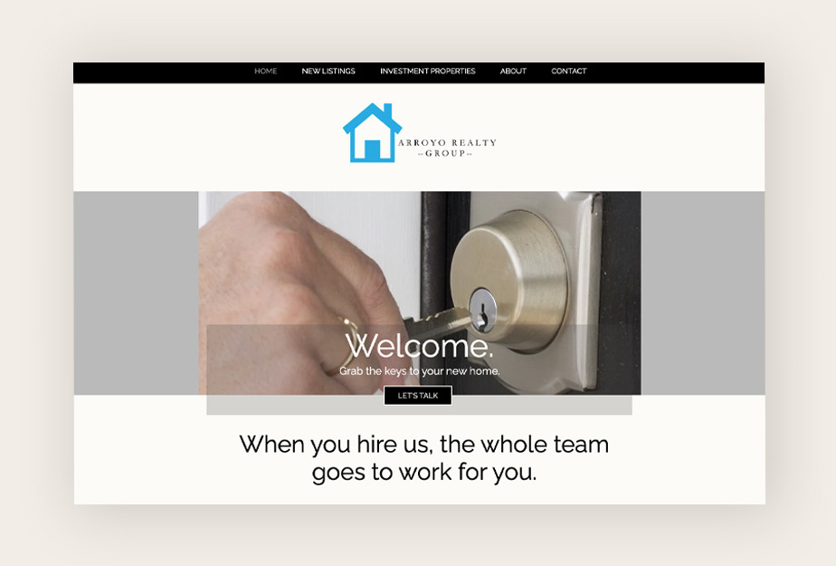 Real estate agent websites: Arroyo Realty Group