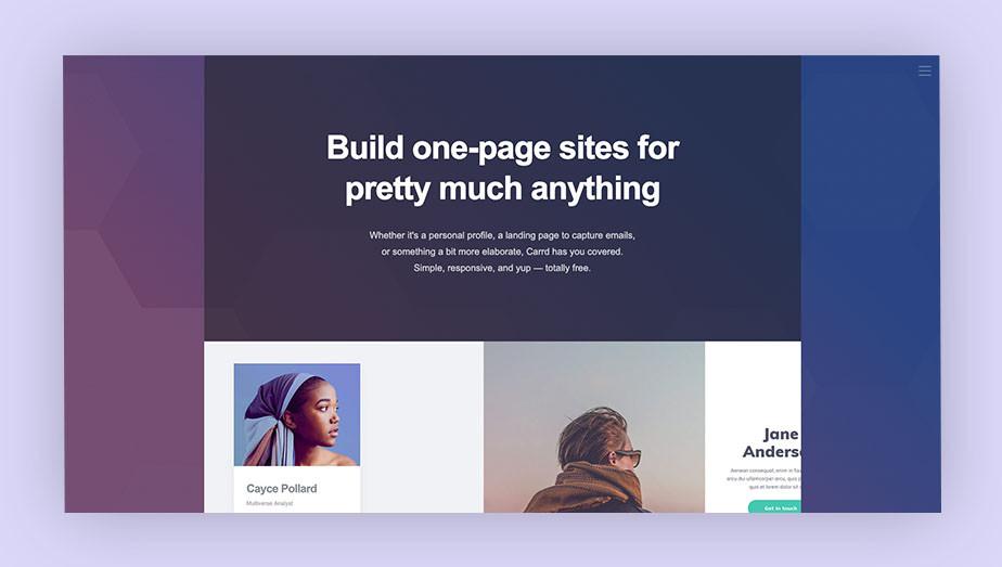 Best website builder Carrd