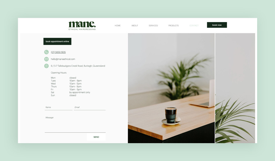 Mane Ethical Contact Us Page