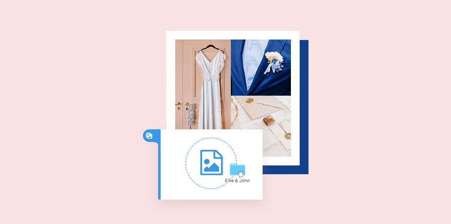 Create a wedding website: online photo album