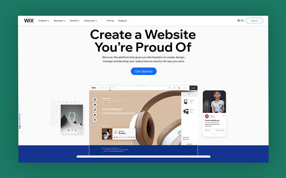 Best website builder Wix