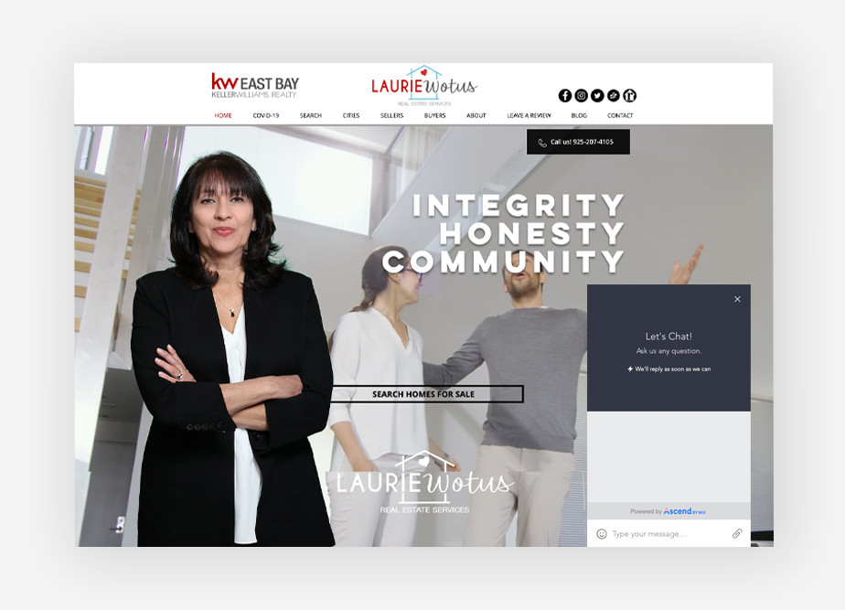 Real estate agent websites: Laurie Wotus