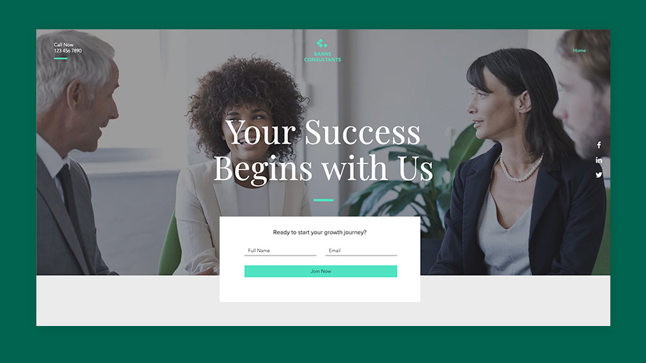 Call-to-action for landing page