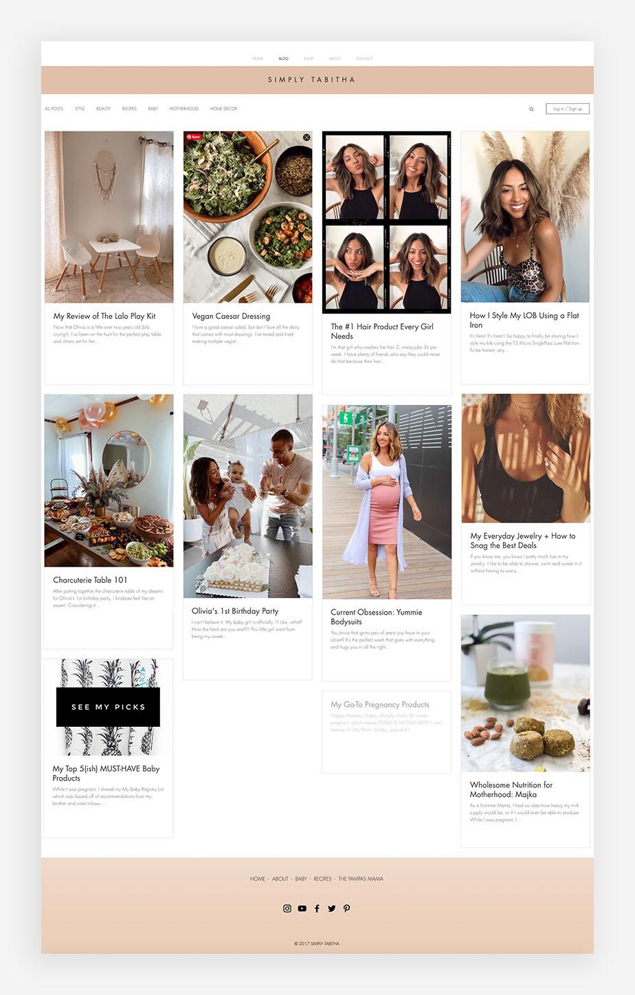 Blog examples Simply Tabitha blog