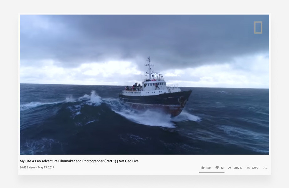 YouTube live stream examples: National Geographic Live