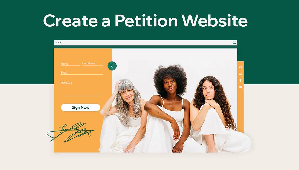 Start a petition website