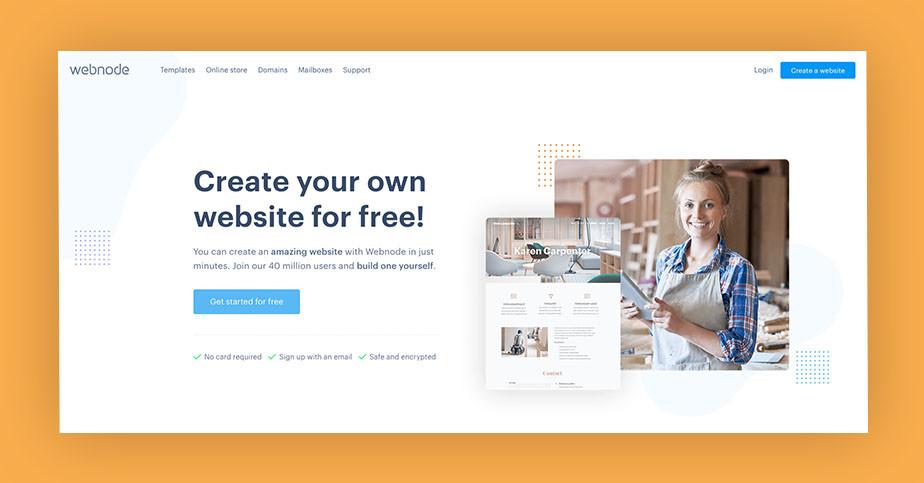 Best website builder Webnode