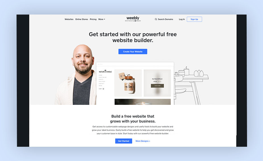 Best website builder Weebly