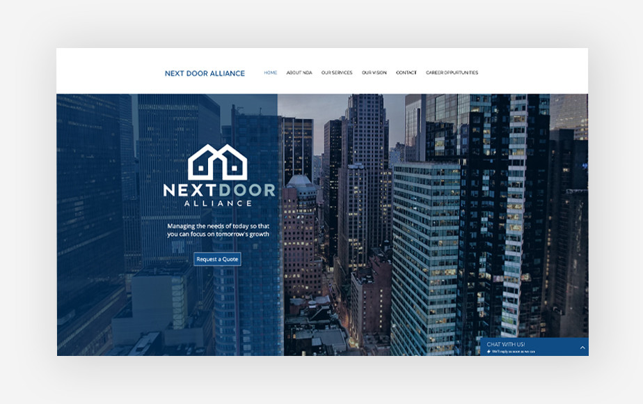 Real estate agent websites: Next Door Alliance
