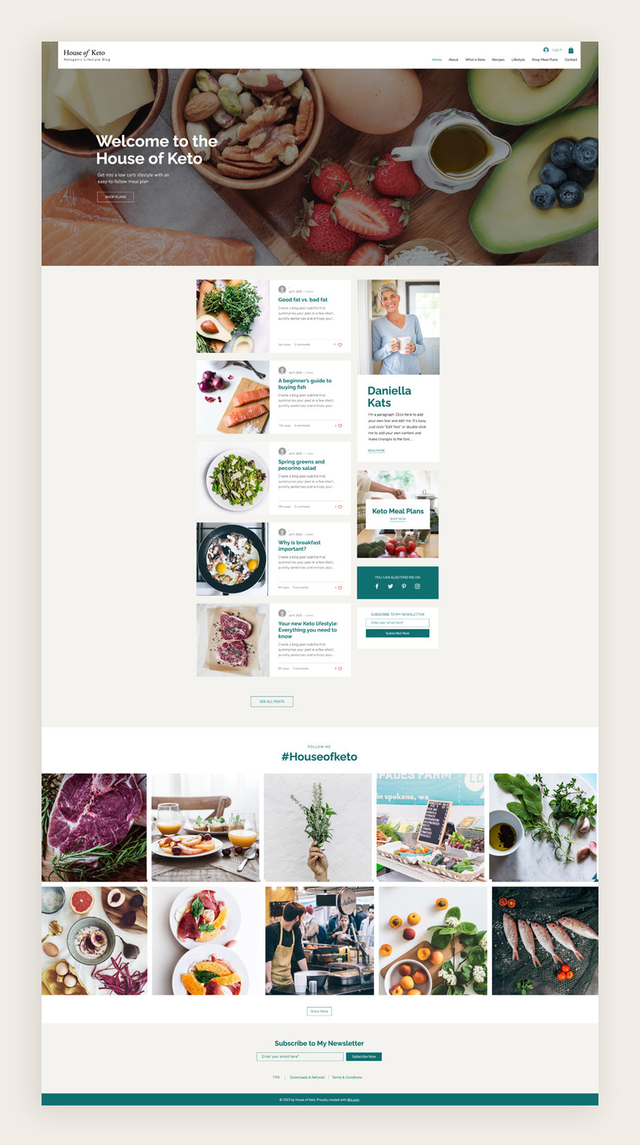 Best blog templates: Nutrition blog template