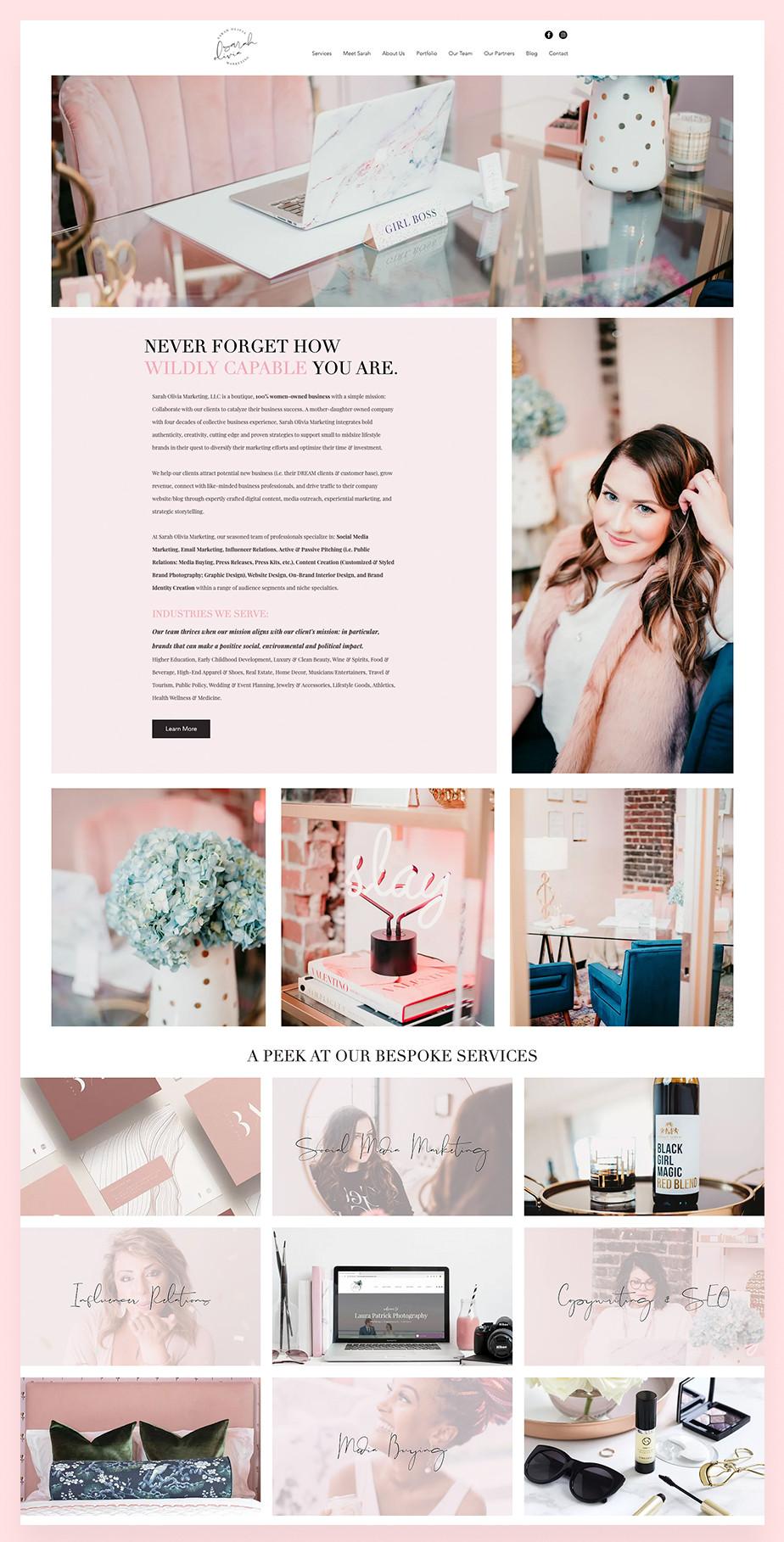 Marketing portfolio example: Sarah Olivia Marketing