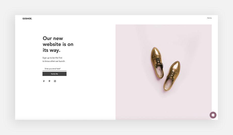 online store landing page design