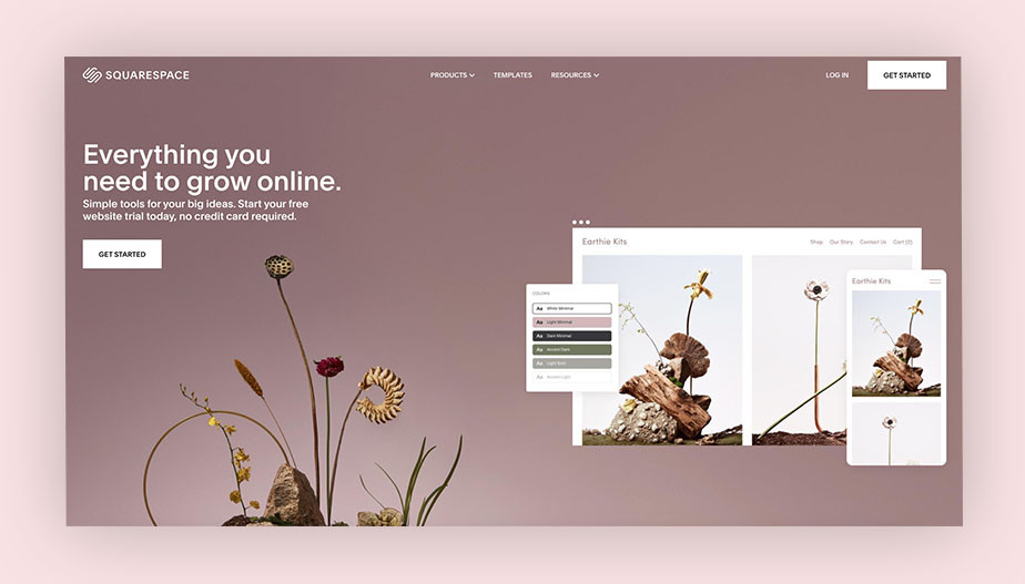 Best website builder Squarespace
