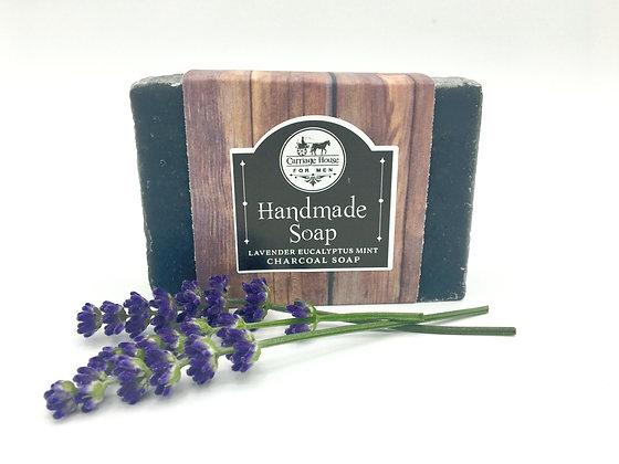 Charcoal Lavender Eucalyptus Mint Soap