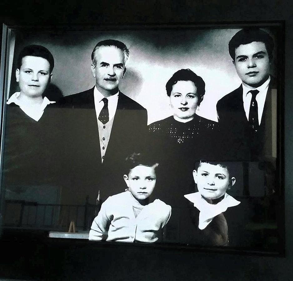 From Left to Right Top- George Sarris, Nick Sarris, Vasou Sarris, Manuel Sarris  Bottom - Angelo Sarris, Kosta Sarris