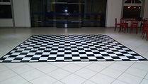 Pista de dança xadrez quadriculada