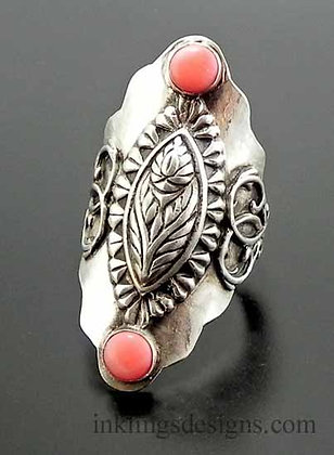 Floral Boho Saddle Ring