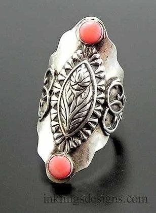 Floral Boho Saddle Ring