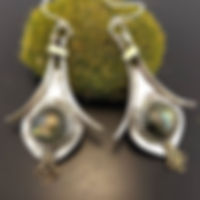 Faceted Labradorite, Sterling Silver, Br