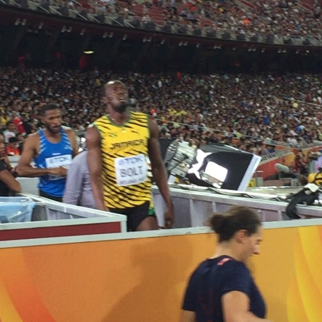 Mr #Bolt after his 200m Heat.jpg