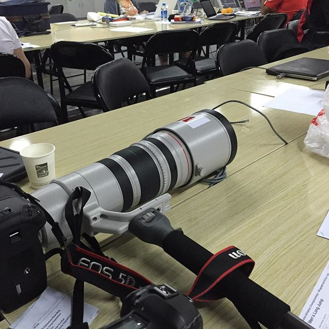 PaV Media's weapon of choice for Day 2 of #IAAF #Beijing2015_ Canon 5D MkIII with a 200-400m zoom le
