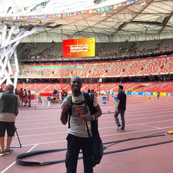 Finally inside the Bird's Nest. The iconic track where Usain set his famous world records.jpg