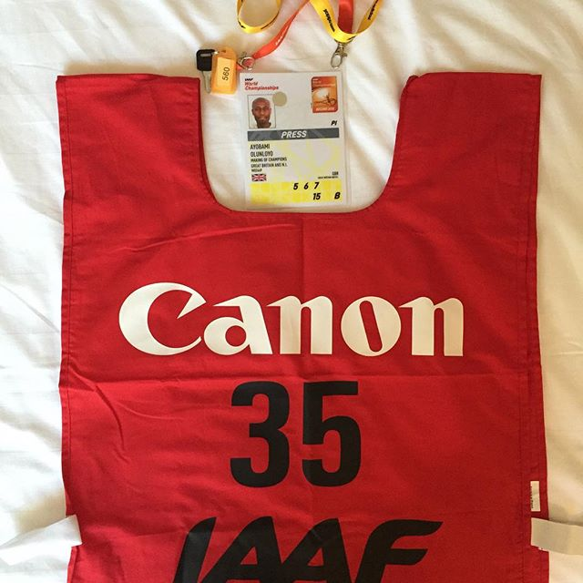 Battle ready with my photographer's bib and accreditation pass.jpg