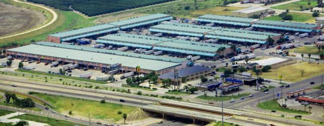 McAllen Texas, Produce Terminal  aerial view.