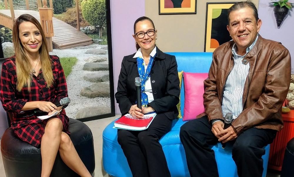 TV Host Gema Acosta, Alejandra Gomez and Javier Carrera