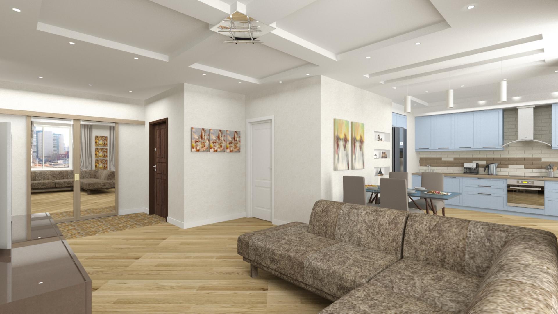 Трехкомнатная квартира 107 кв.м.