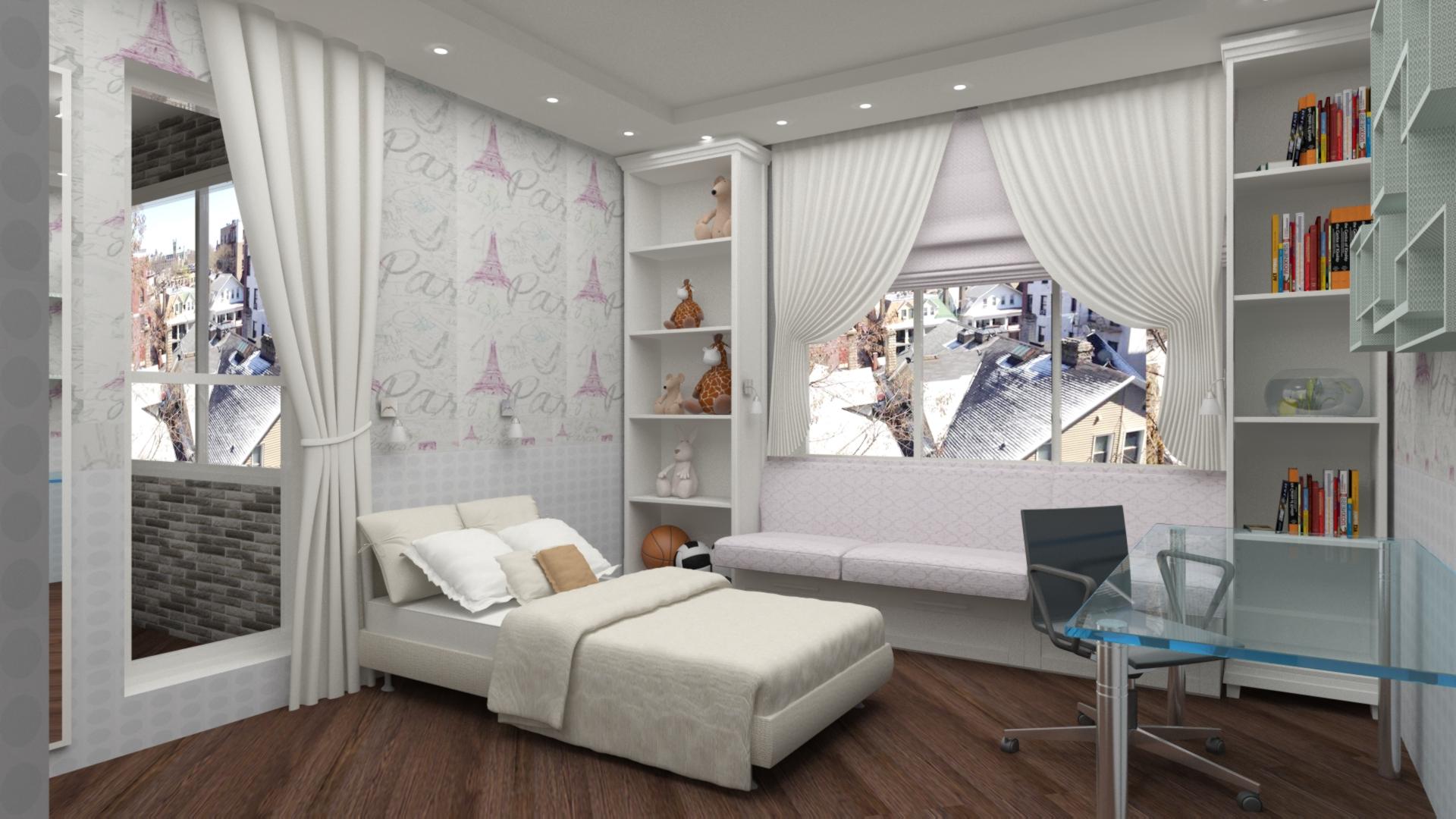 Дизайн детской комнаты девочки